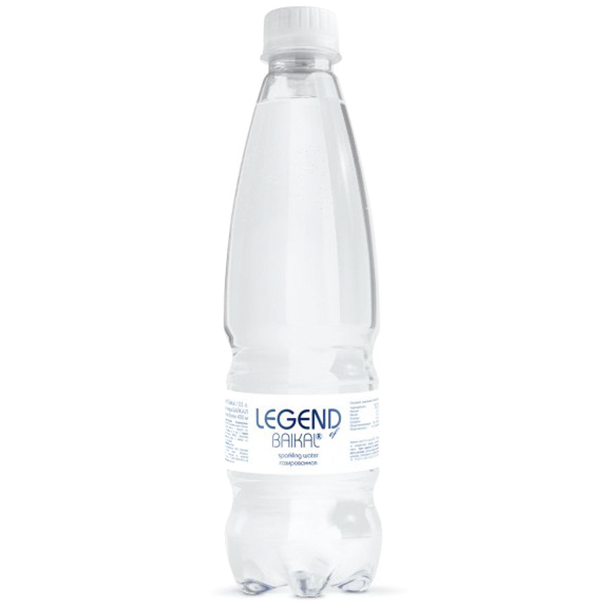Вода питьевая Legend of Baikal глубинная газированная 500 мл