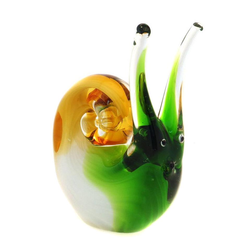 Фигурка Art glass Улитка 11x12 см фигурка art glass пеликан 22х26 см