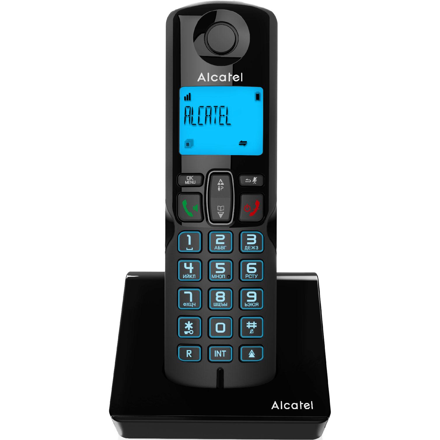 Фото - Радиотелефон Alcatel S250 Ru Black радиотелефон alcatel e192 duo ru black