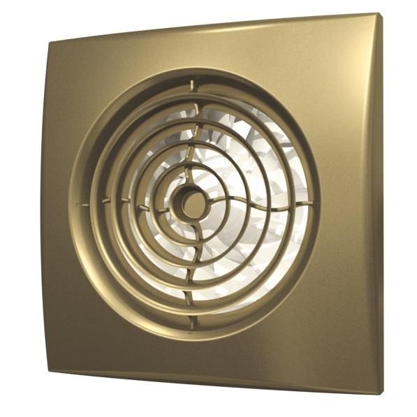 Вентилятор осевой Diciti вытяжной с обратным клапаном D 100, декоративный aura 4c champagne d100 недорого