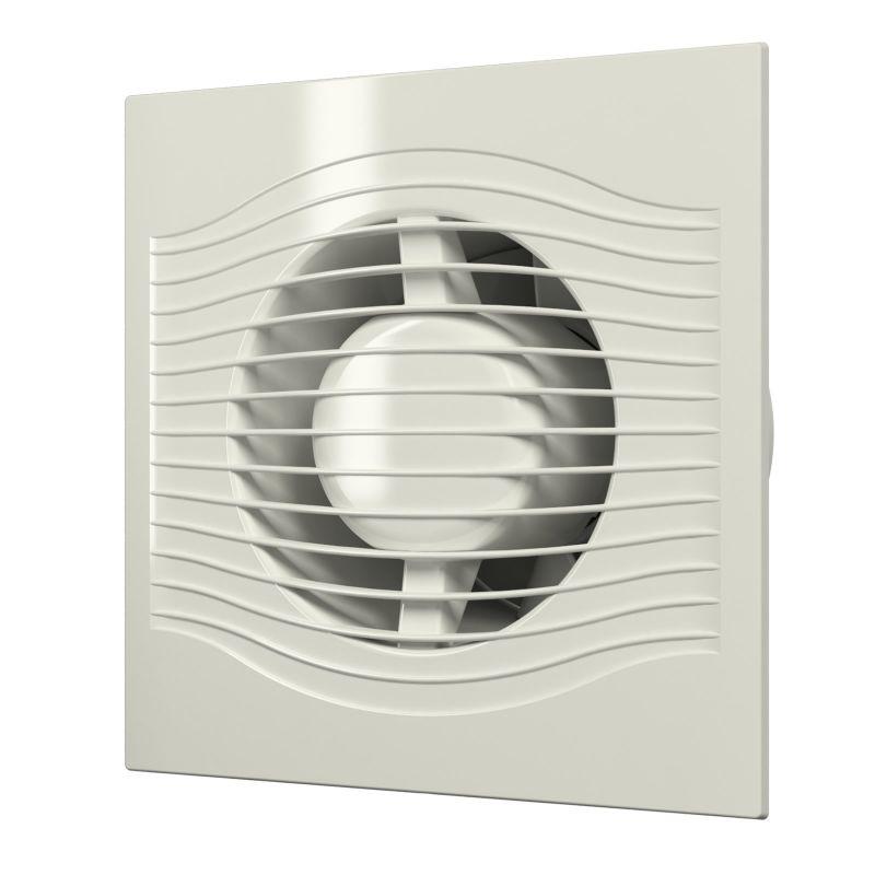 Вентилятор Diciti SLIM 4C Ivory осевой вытяжной с обратным клапаном D 100, декоративный недорого