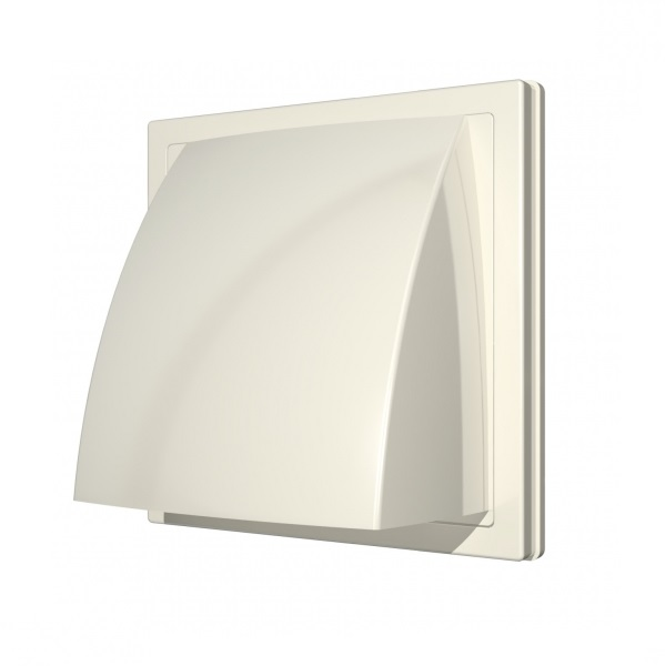 Выход стенной вытяжной Era с обратным клапаном 150х150 с фланцем D100, ASA выход era стенной вентиляционный вытяжной металлический с фланцем d100 10вм