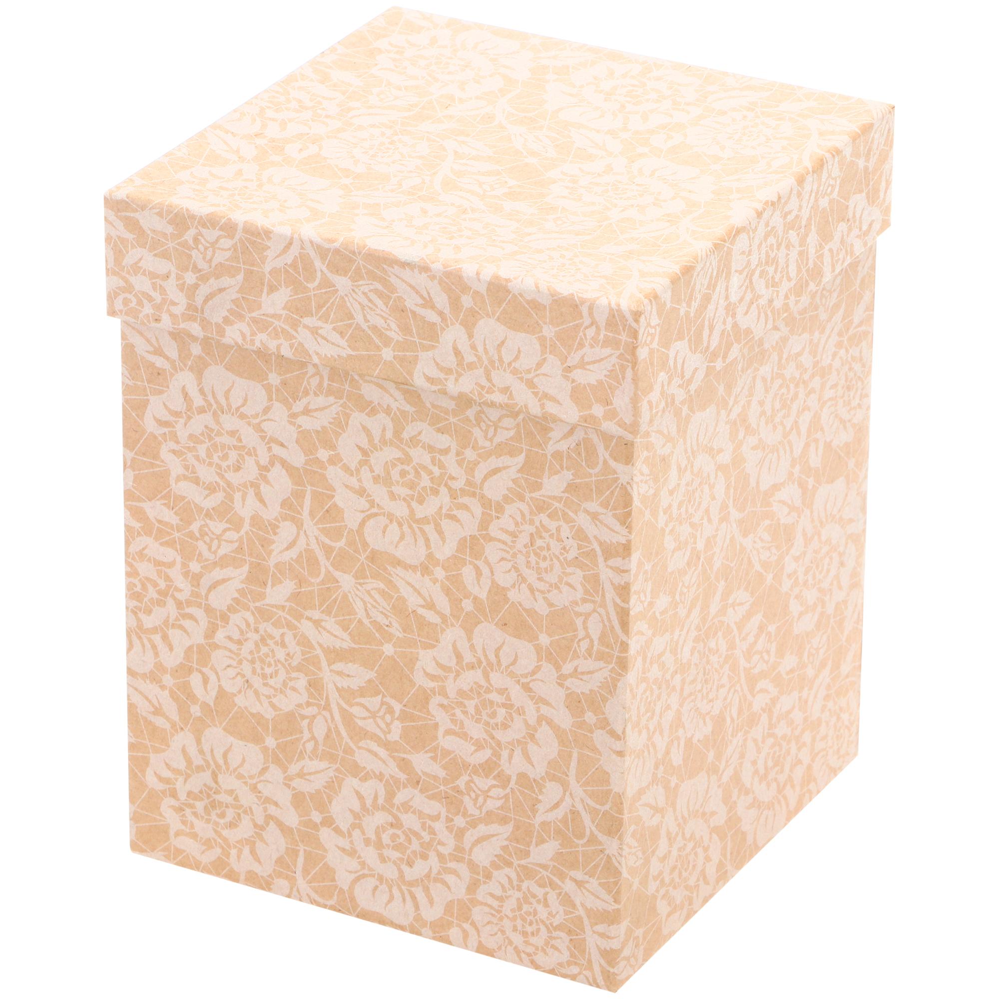 Коробка Grand Gift картонная крафт под кружку 13х13х17 см