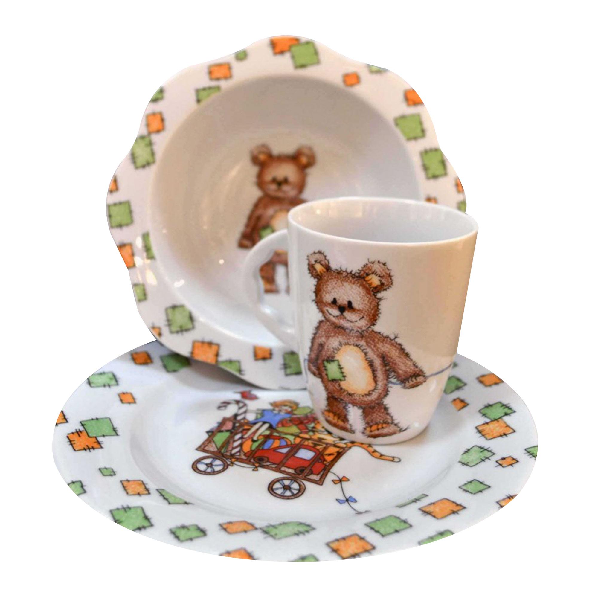 Набор детской посуды Cmielow Мишка 4 шт