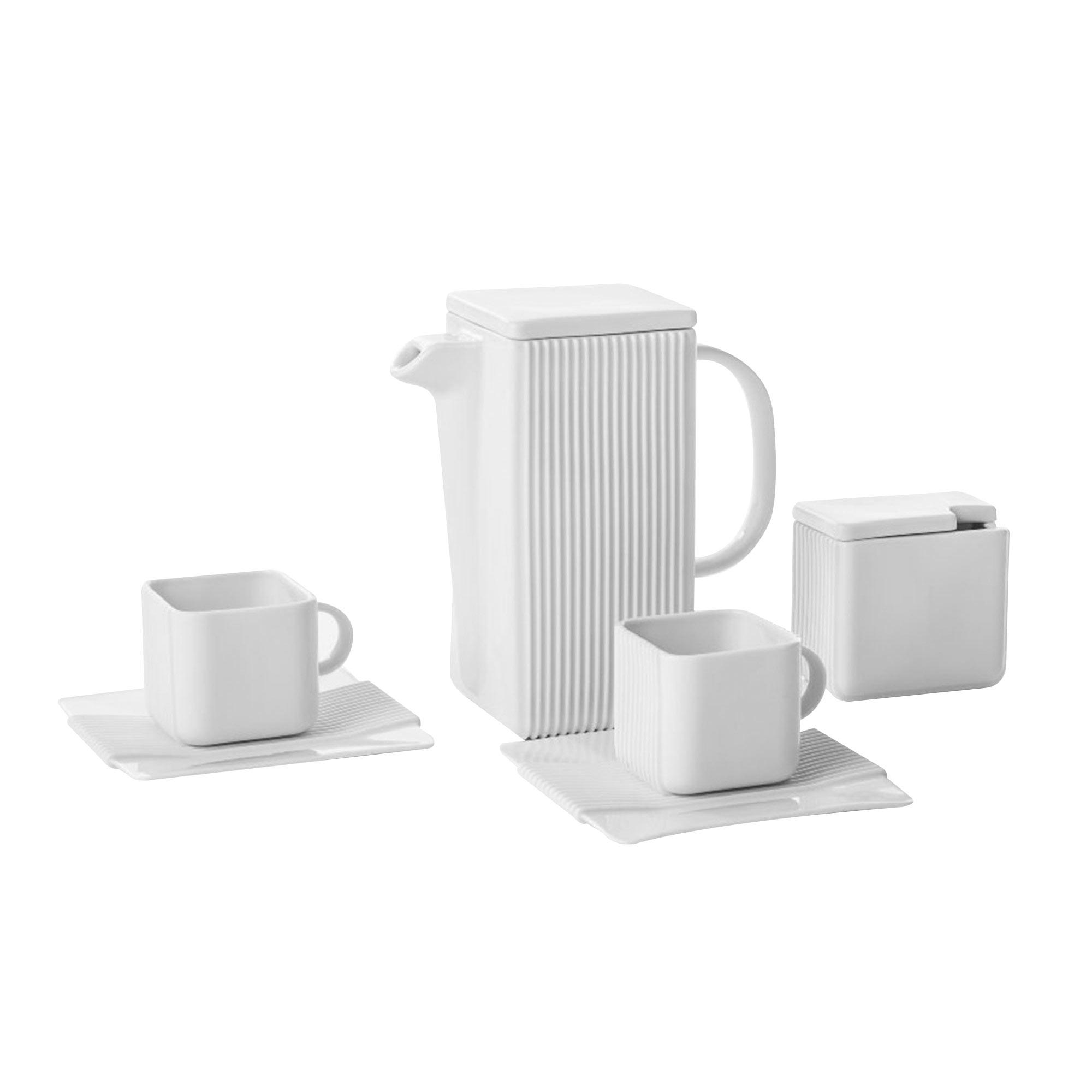 Кофейный сервиз Cmielow System белый 4 предмета