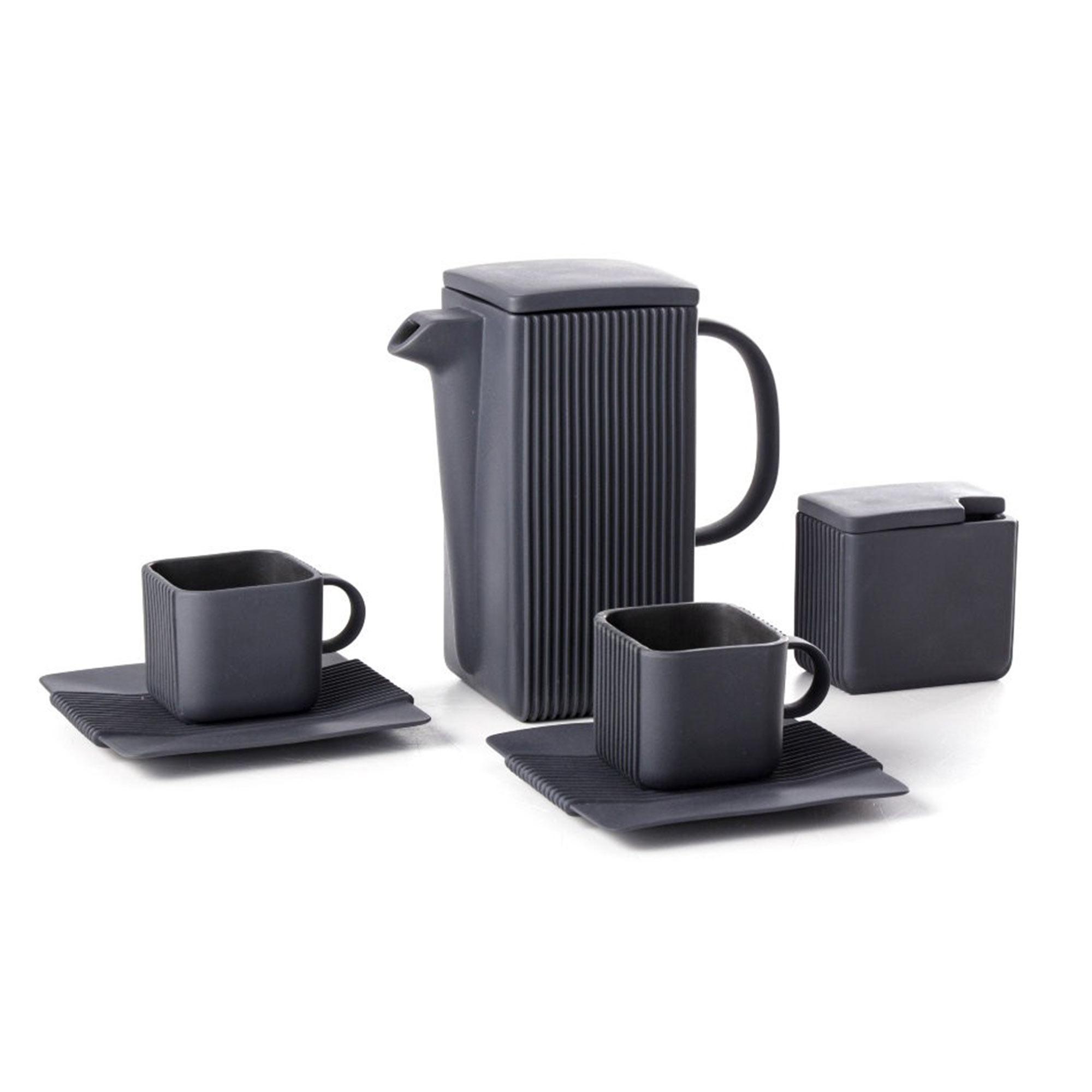 Кофейный сервиз Cmielow System черный 4 предмета