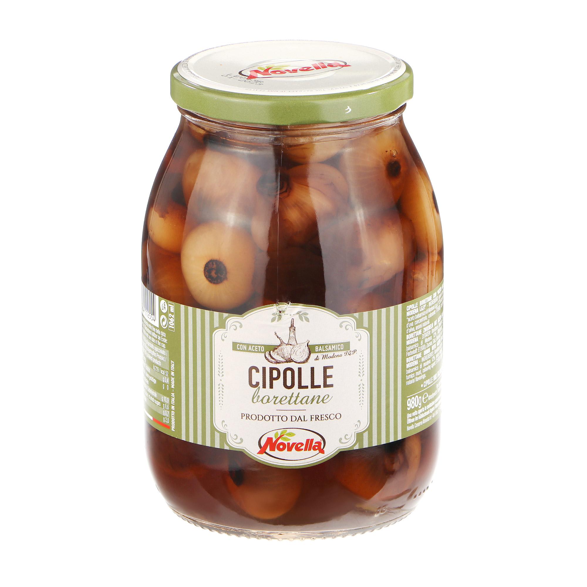 Лук маринованный Novella Cipolle в бальзамическом уксусе, 1 кг