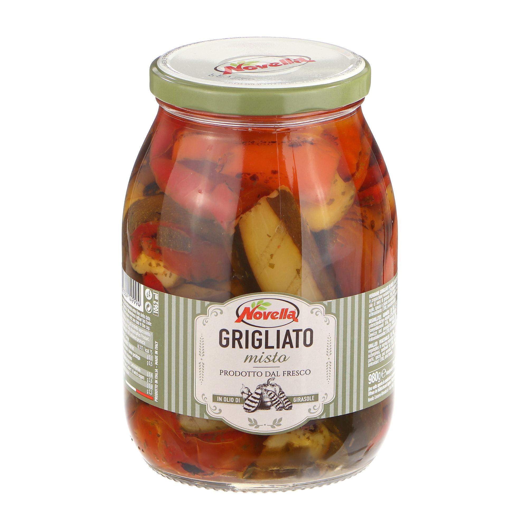 Ассорти овощей Novella Grigliato на гриле в масле,950 г