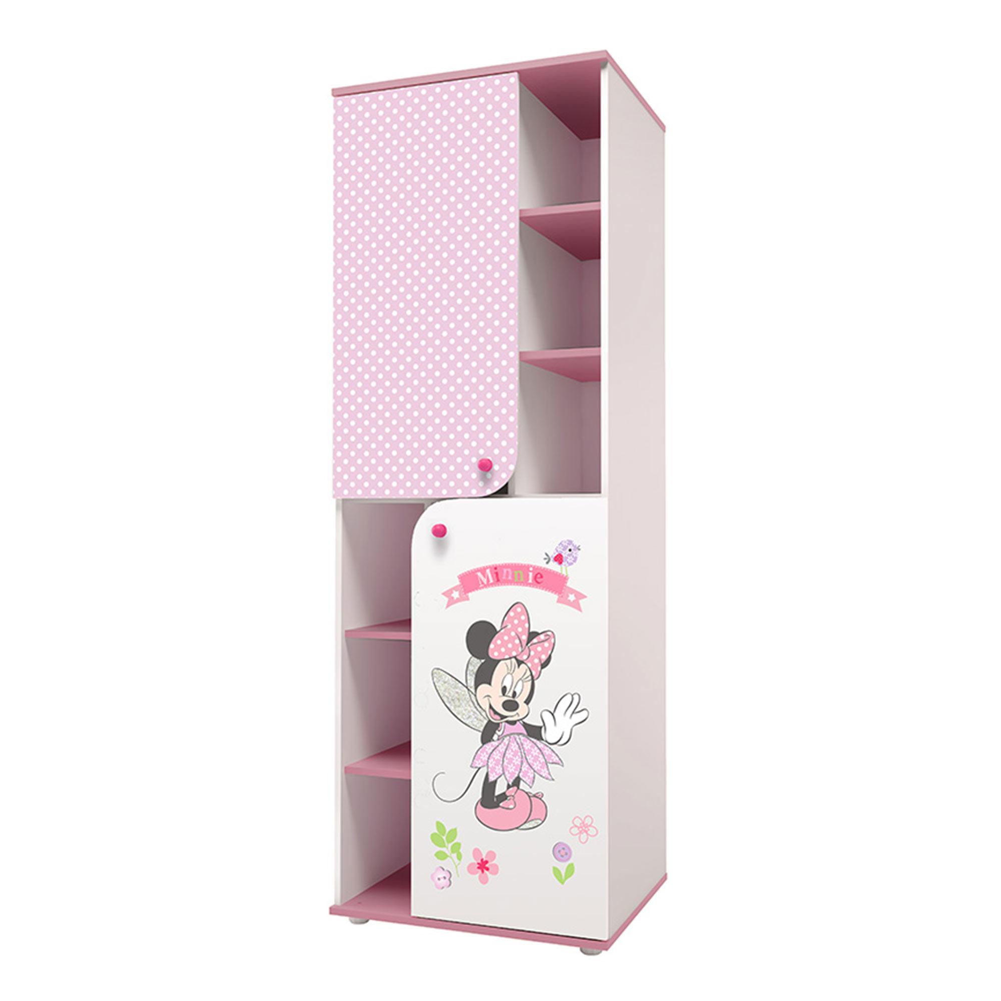 Шкаф-пенал Polini kids Disney baby Минни Маус-Фея, белый-розовый 190х65,2х52