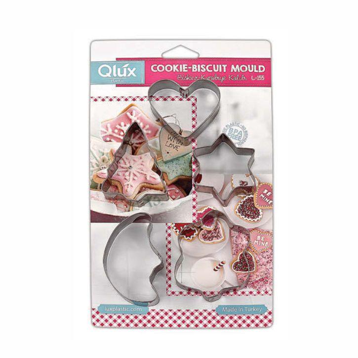 Набор формочек для печенья Qlux 5 шт набор формочек 5 шт dosh i home набор формочек 5 шт