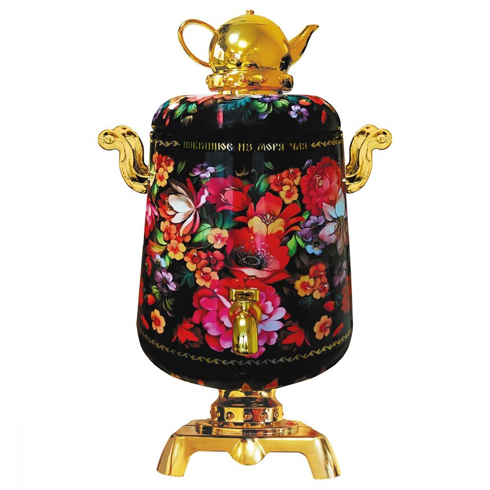 Чай черный ИМЧ Самовар черный 75 г чай черный избранное из моря чая игристое настроение синяя бутылка 50 г