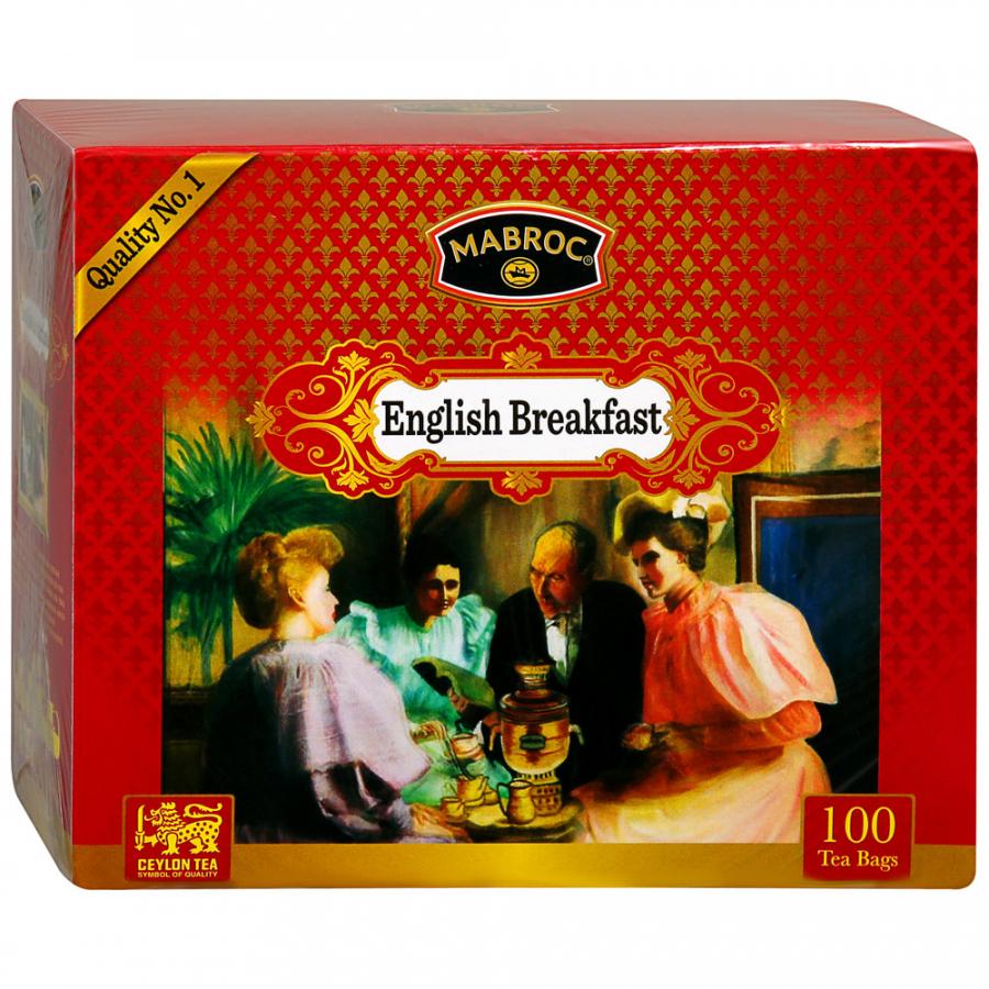 Фото - Чай черный Mabroc Английский завтрак 100х2 г чай черный matis золото цейлона 100х2 г