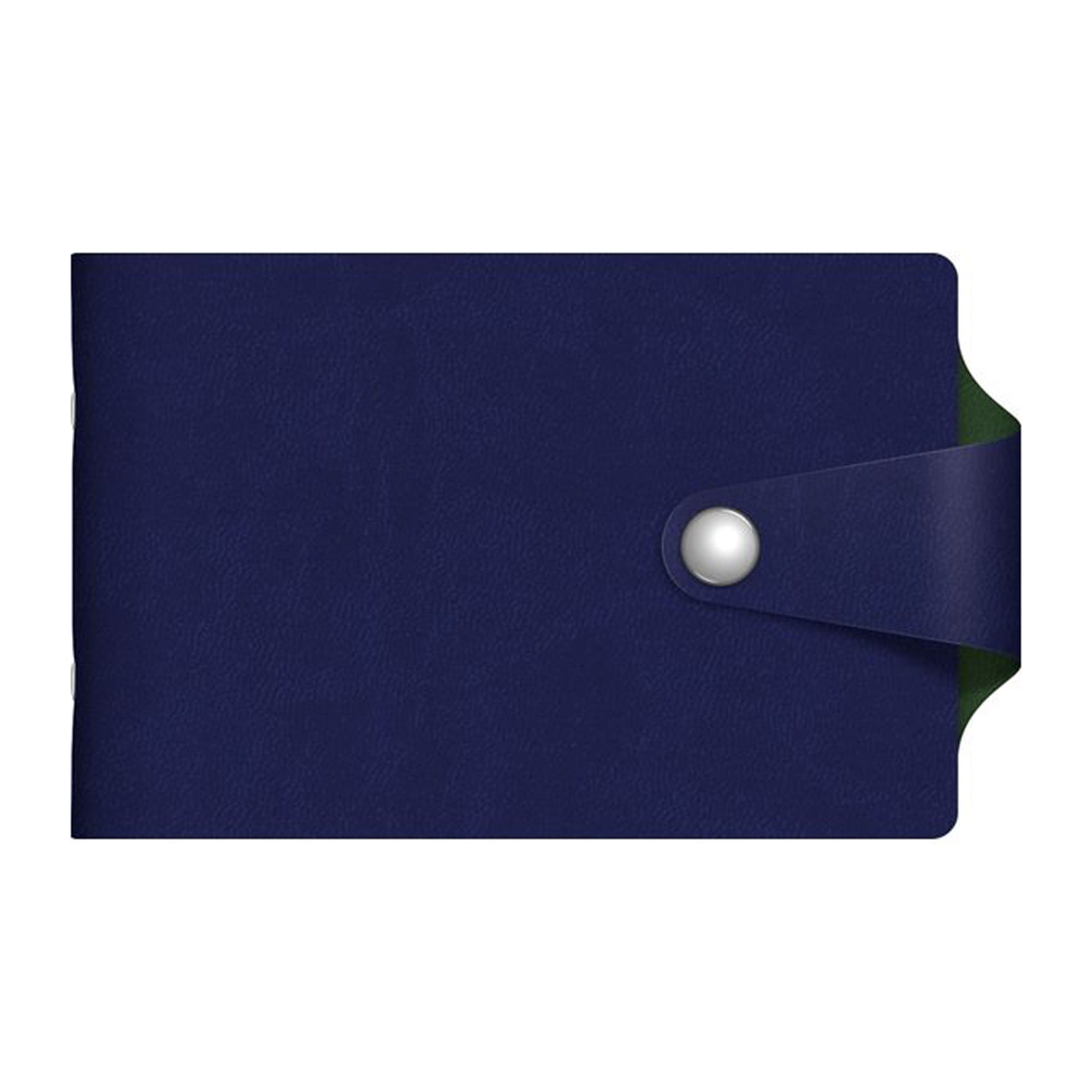 Визитница Hatber 12 карманов Vivella Bicolour синий/зеленый