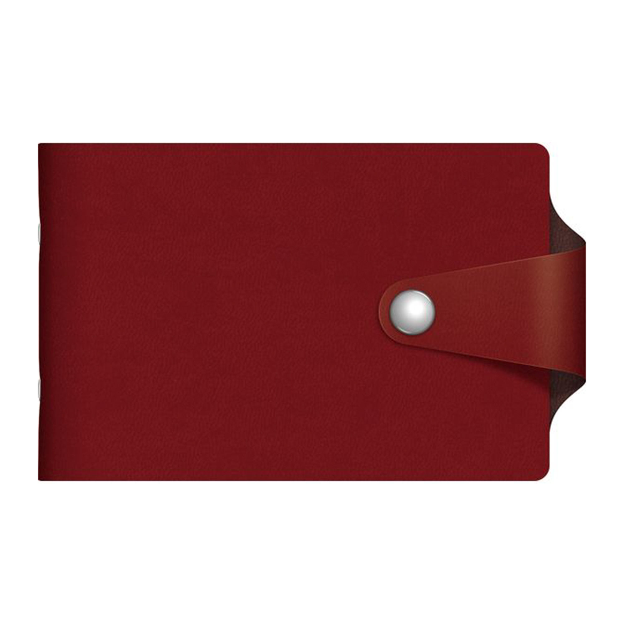 Визитница Hatber 12 карманов Vivella Bicolour бордовый/шоколадный