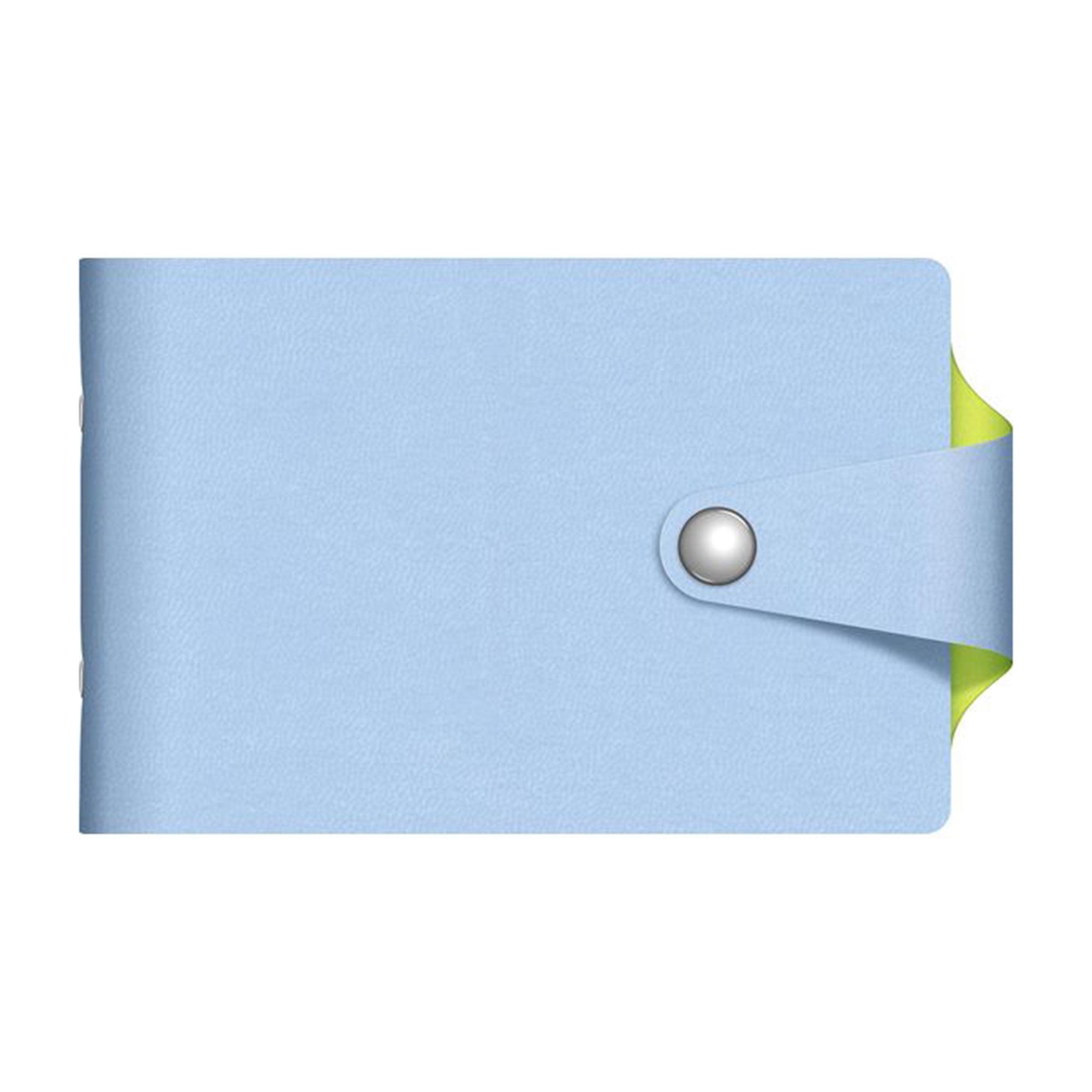 Визитница Hatber 12 карманов Vivella Bicolour голубой/салатовый
