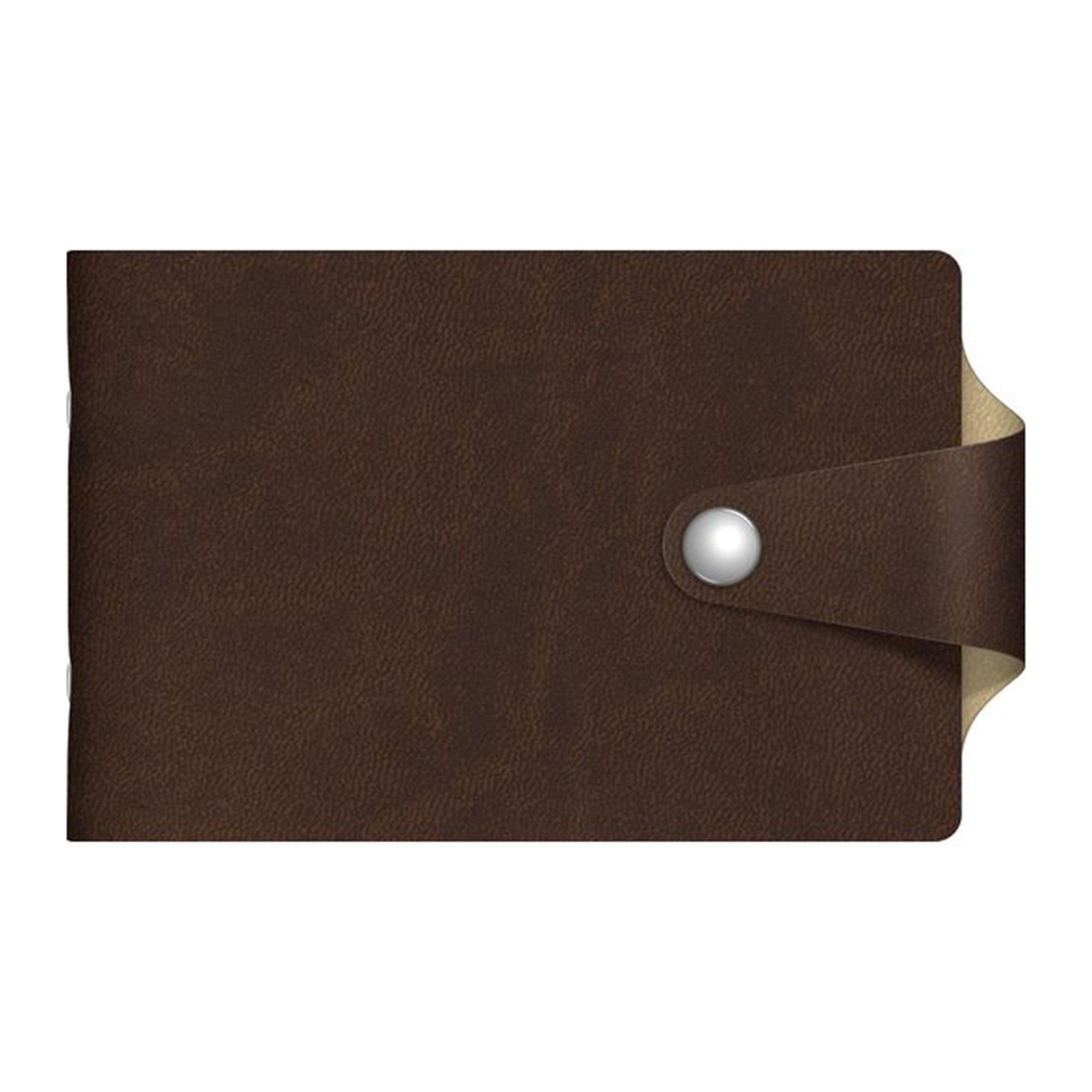 Визитница Hatber 12 карманов Vivella Bicolour коричневый/бежевый