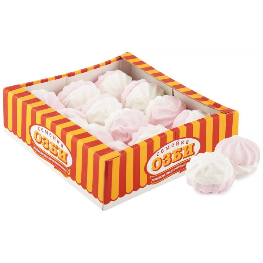 Зефир Семейка Озби бело-розовый 540 г зефир и пастила corniche маршмеллоу большие mega marshmallow бело розовые 300 г
