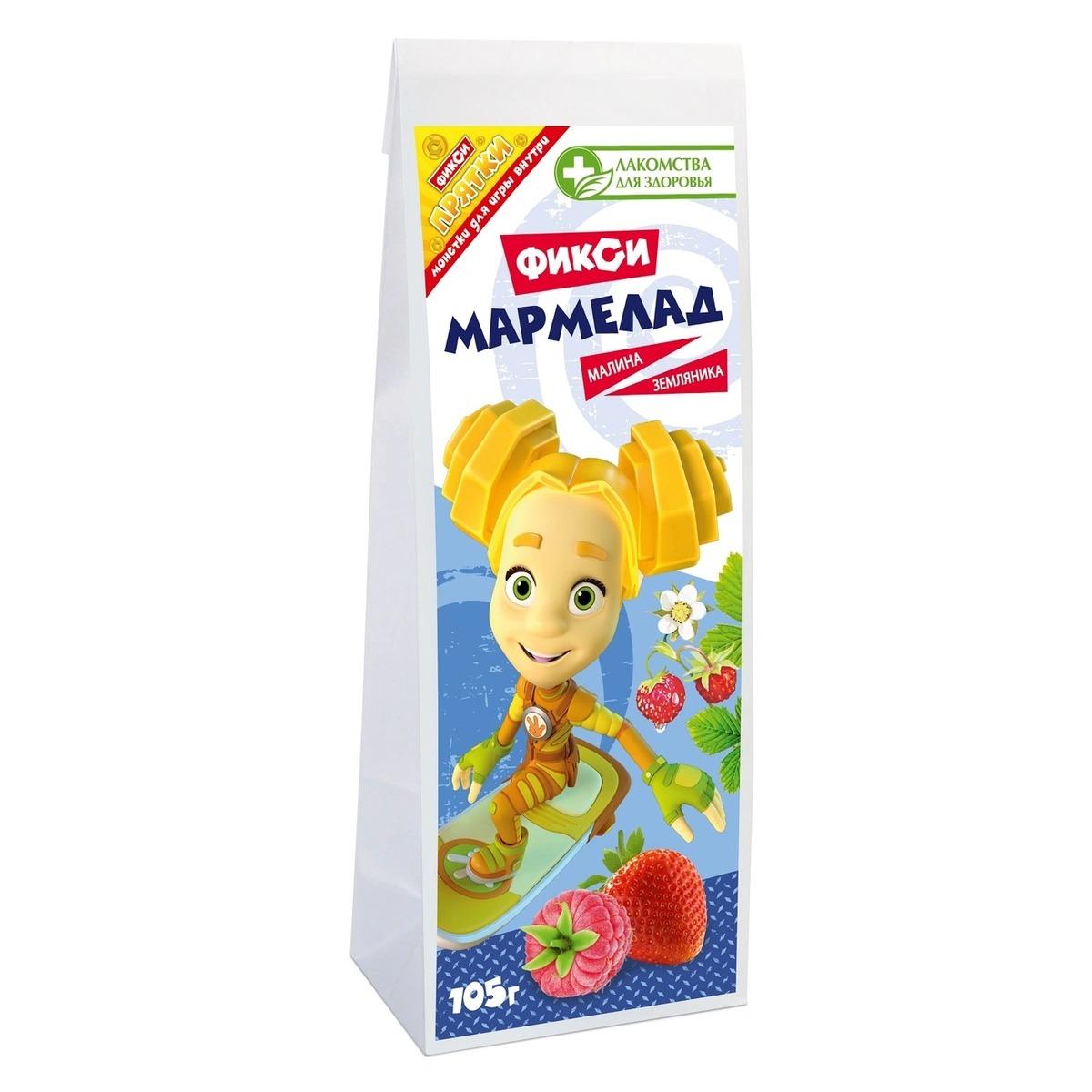 Мармелад желейный Лакомства для здоровья земляника с малиной 105 г