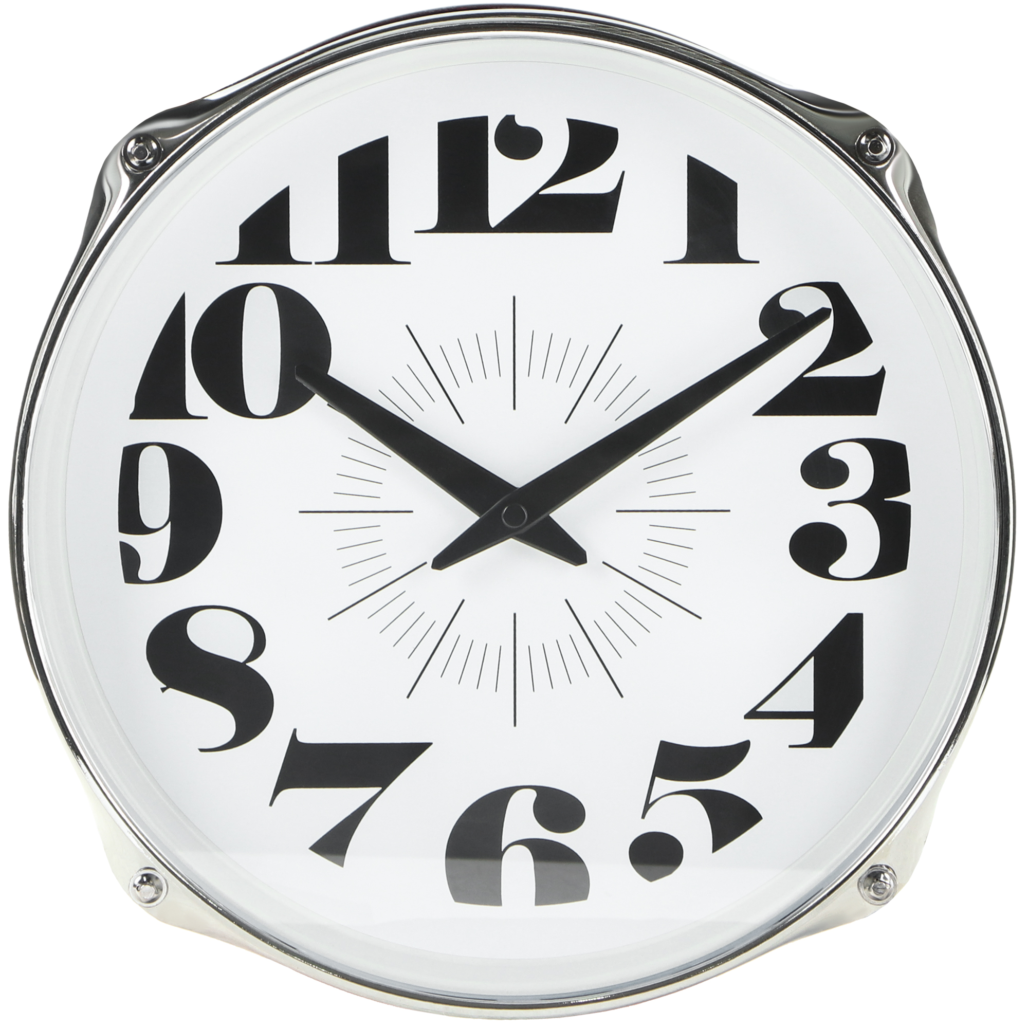Часы настенные IsTime Drum красные 27,5х16,7х27,5 см