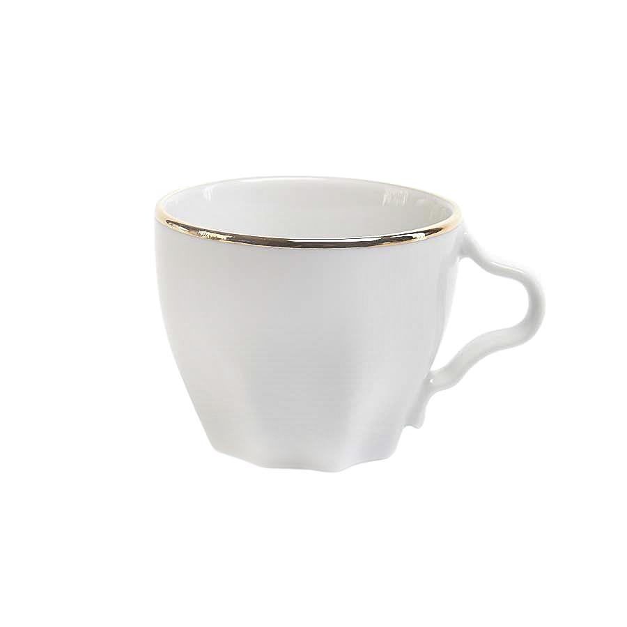 """Кофейная чашка Porcelaine Czech Gold Hands """"Волна"""" модное золото 100 мл"""