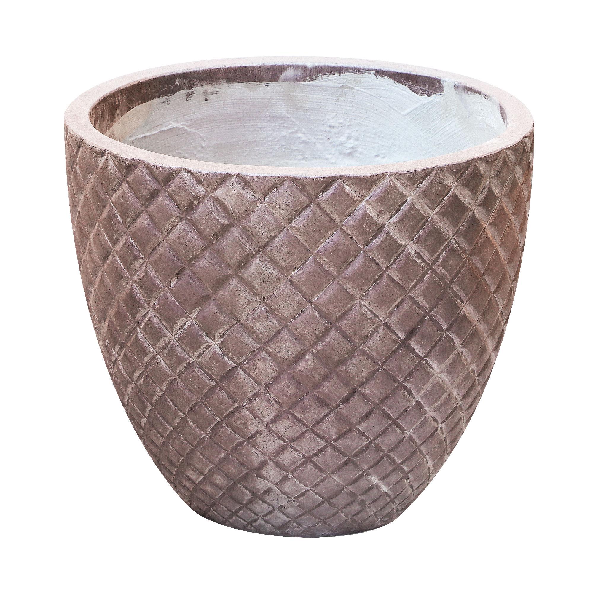 Кашпо Hoang pottery ромбы 40x35 см бронза недорого