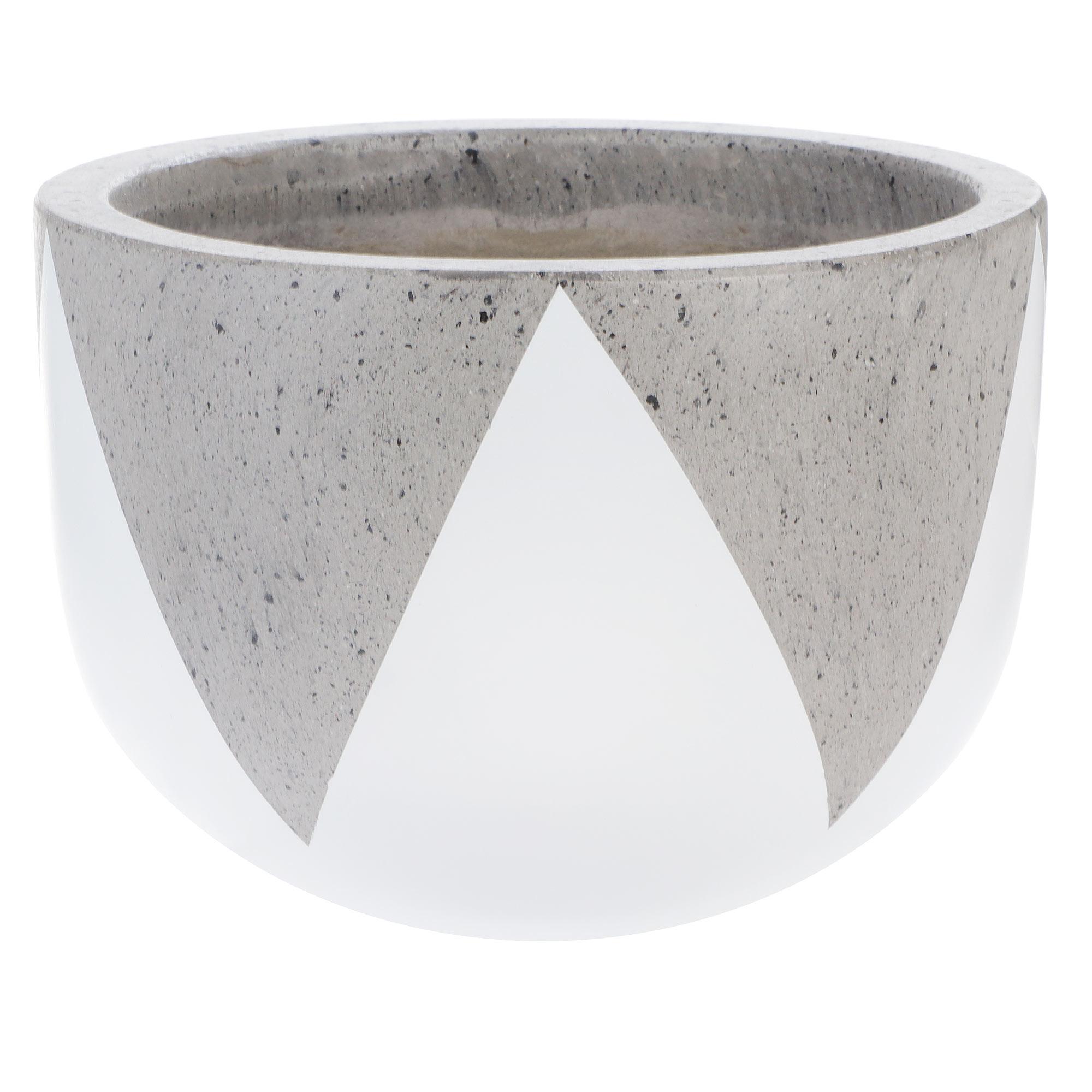 Кашпо Hoang pottery 25x18 см бетон белый, черный ассорти недорого