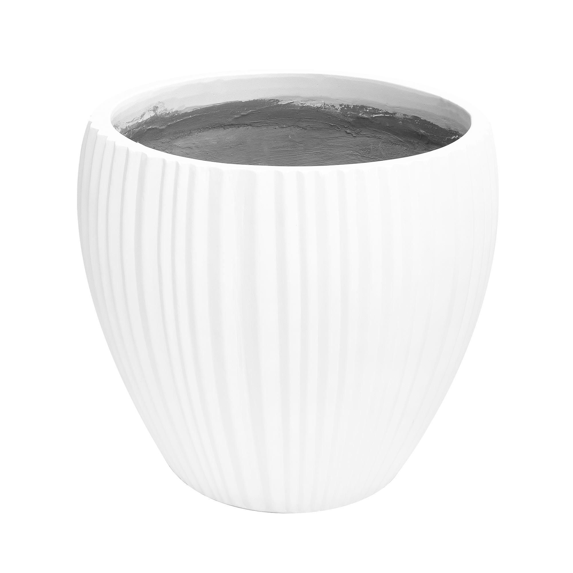 Кашпо Hoang pottery глазурь 56x50 см белое недорого