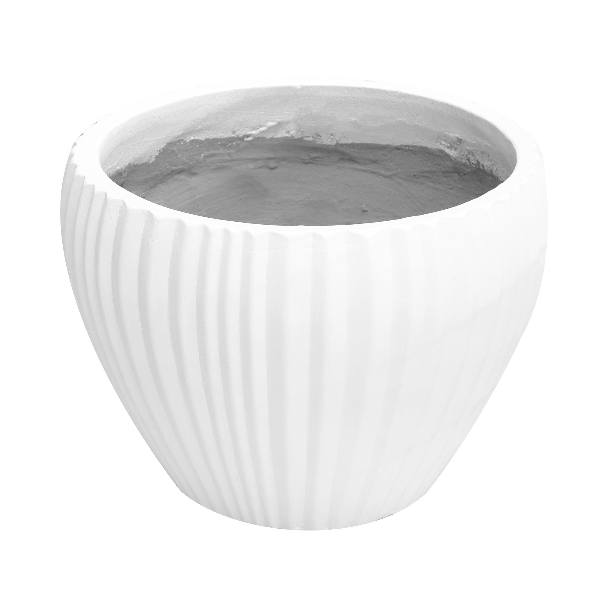 КашпоHoang pottery глазурь 42x30 см белое