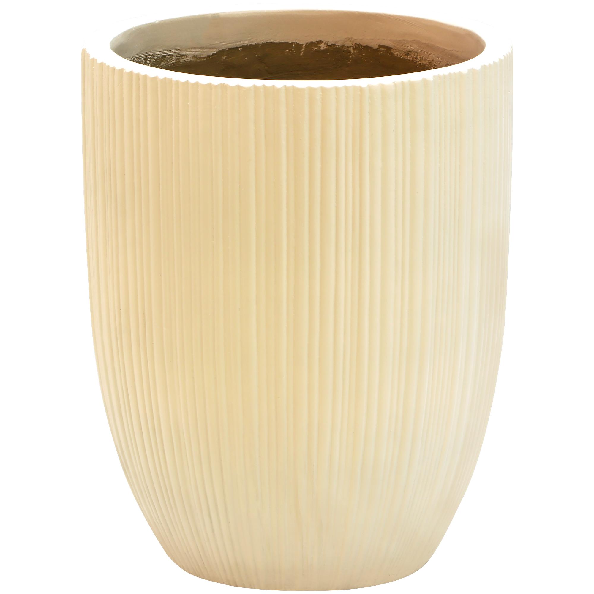 Кашпо Hoang pottery глазурь высокое 46x57 см белое недорого