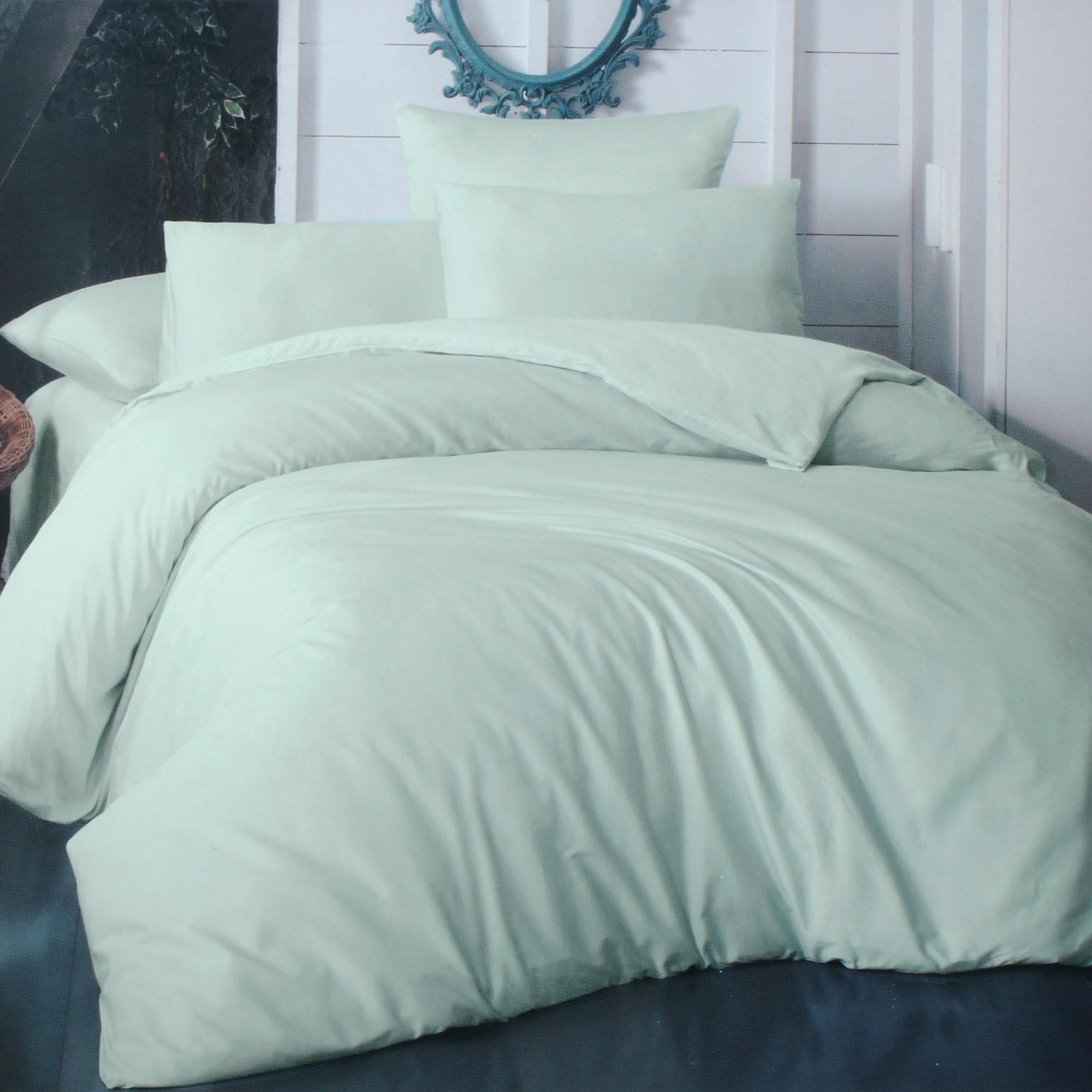 Фото - Комплект постельного белья La Besse Ранфорс мятный Кинг сайз комплект постельного белья la besse ранфорс тёмно серый евро