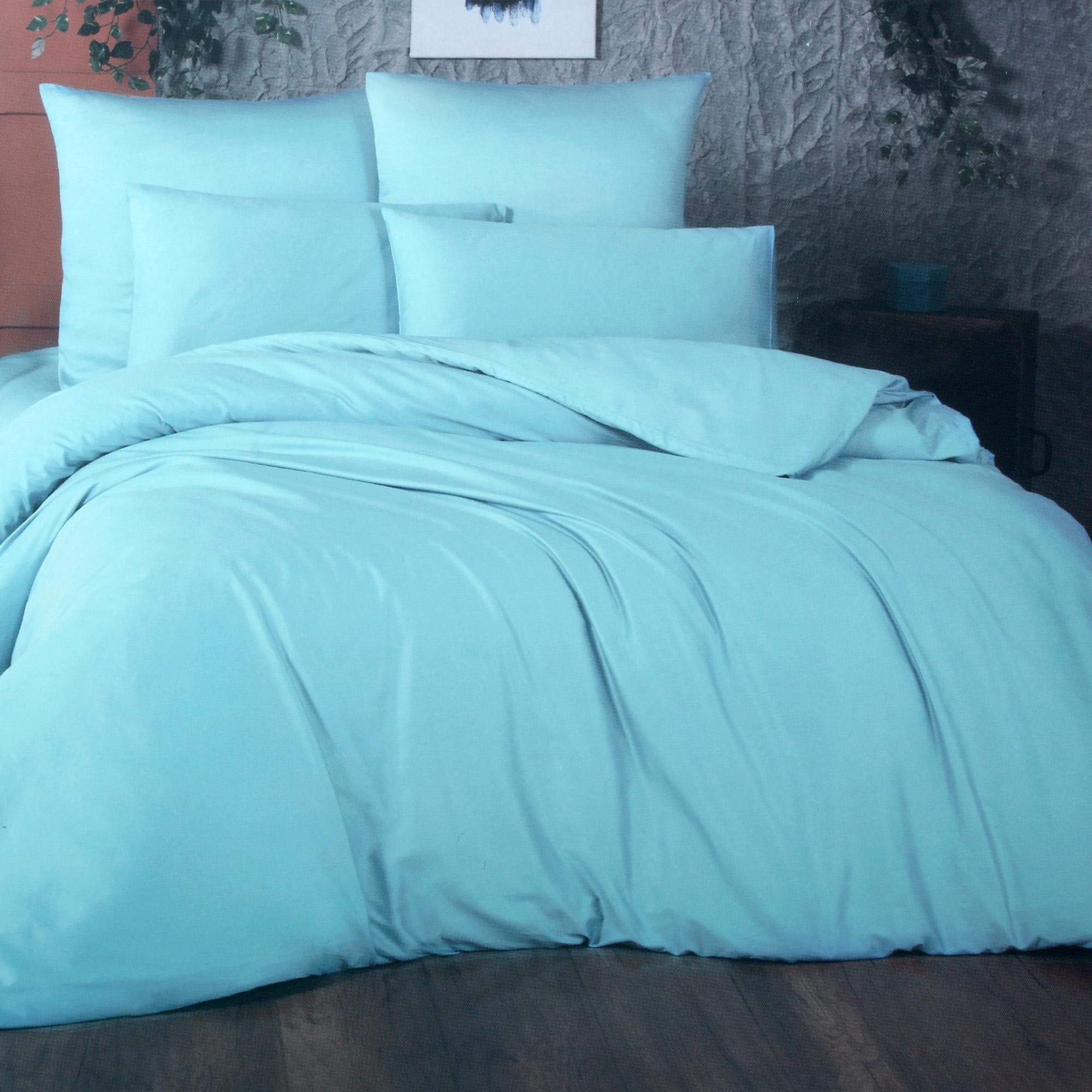 Фото - Комплект постельного белья La Besse Ранфорс синий Евро комплект постельного белья la besse ранфорс тёмно серый евро