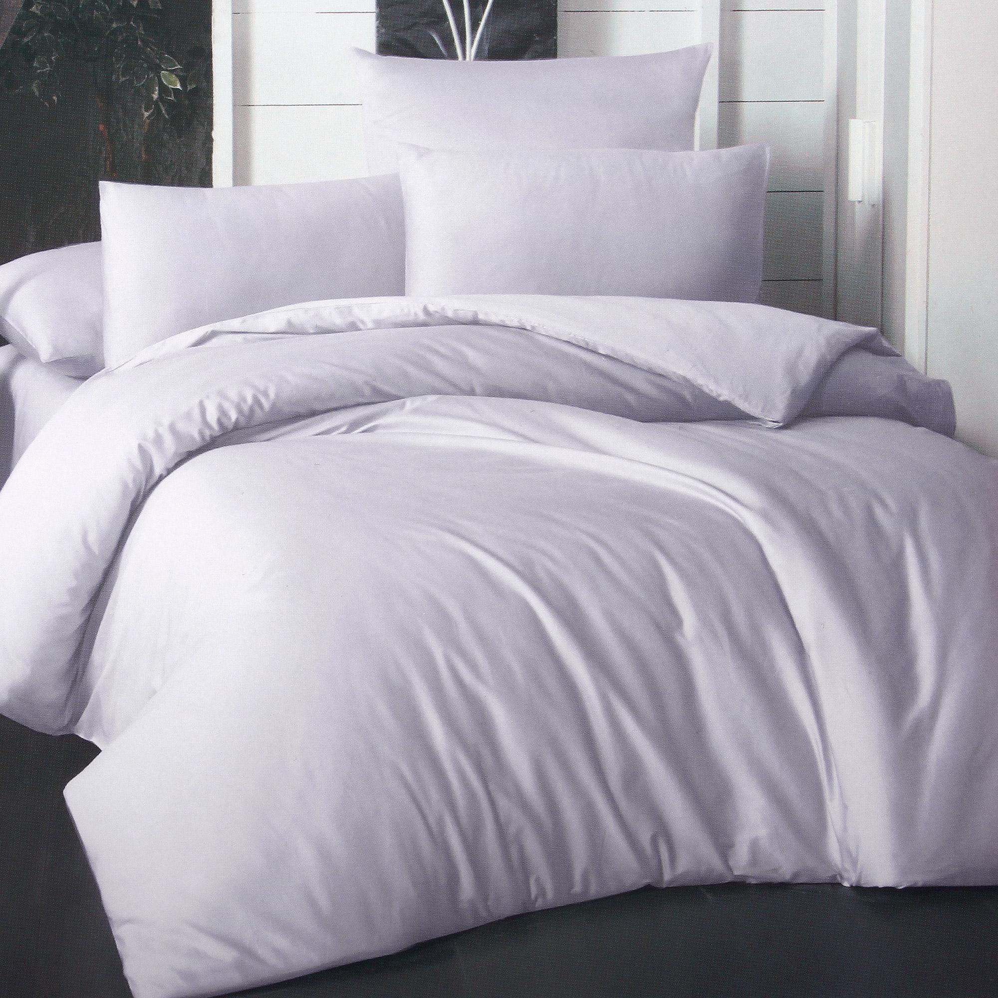 Фото - Комплект постельного белья La Besse Ранфорс сиреневый Евро комплект постельного белья la besse ранфорс тёмно серый евро