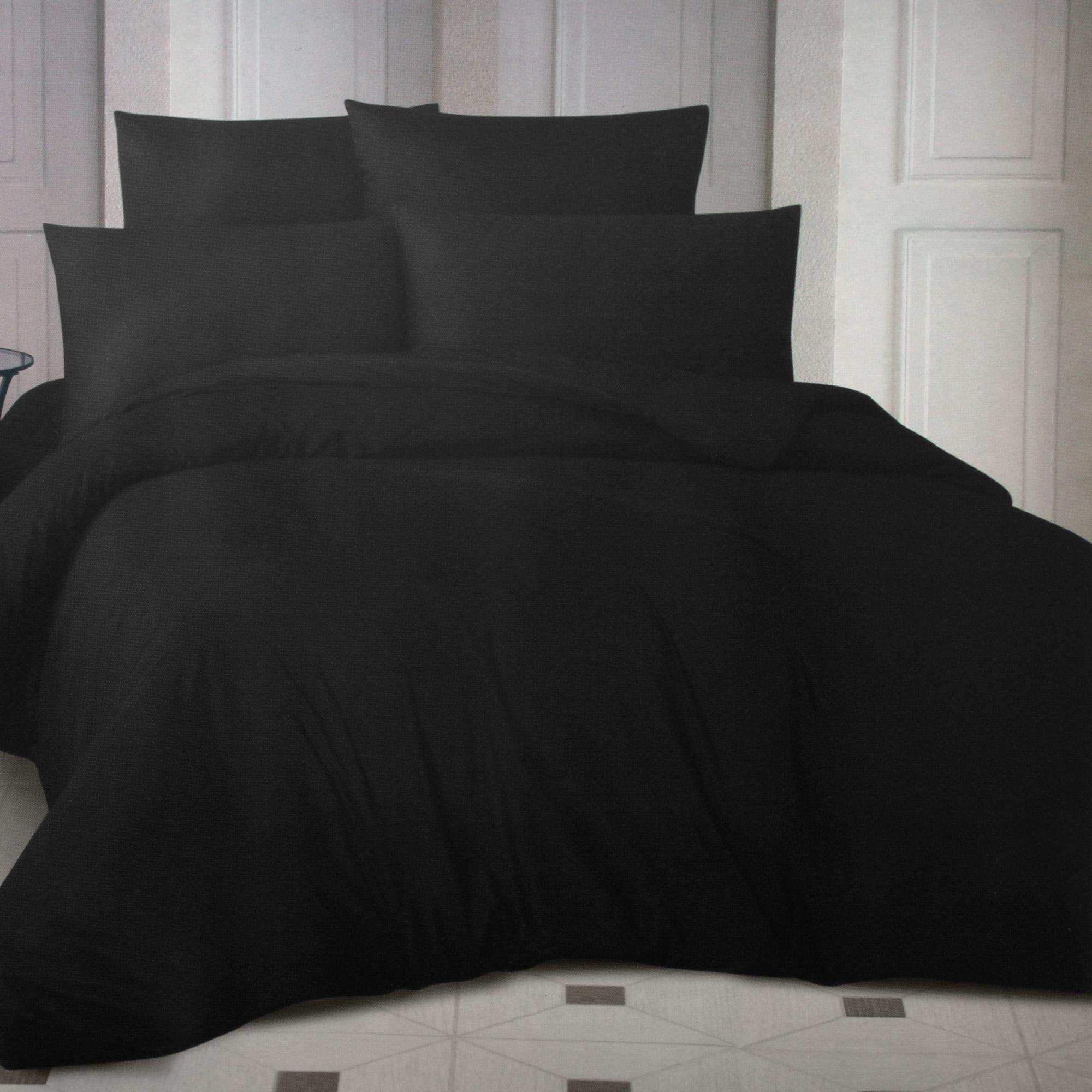 Фото - Комплект постельного белья La Besse Ранфорс чёрный Семейный комплект постельного белья la besse ранфорс тёмно серый евро