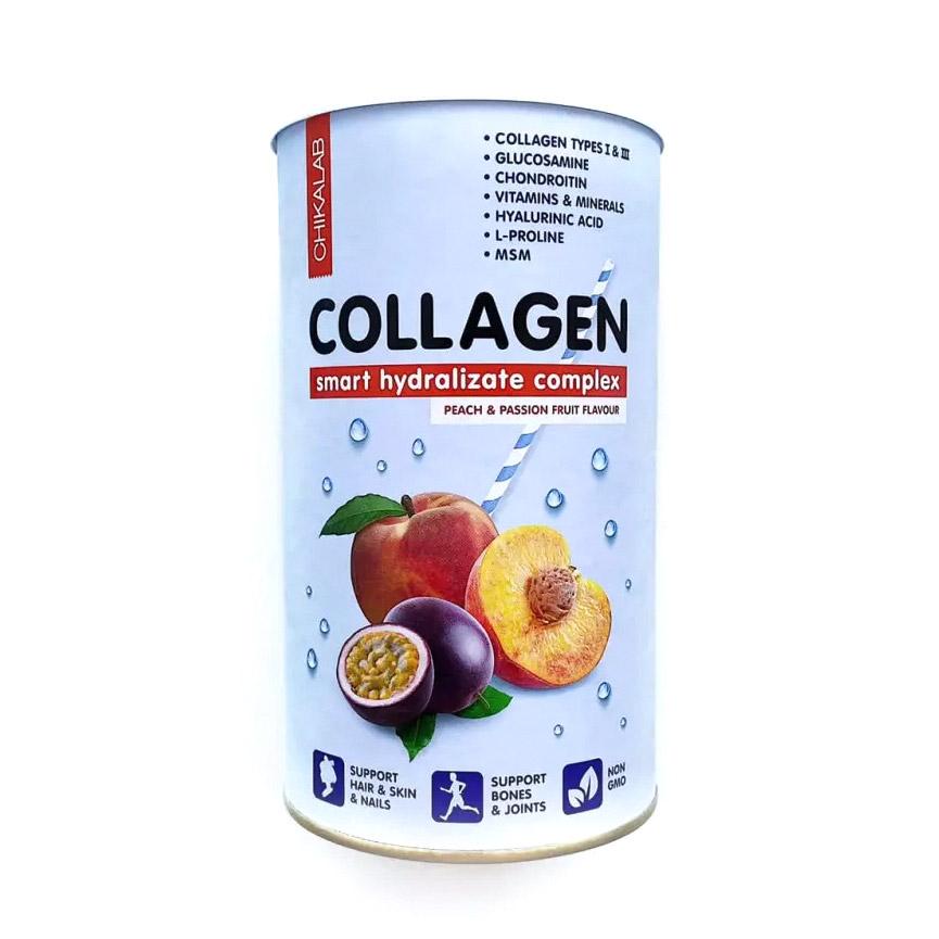 Фото - Коллагеновый коктейль ChikaLab Персик, маракуйя 462 г аминокислоты elementica organic essential aminos персик маракуйя 200 г