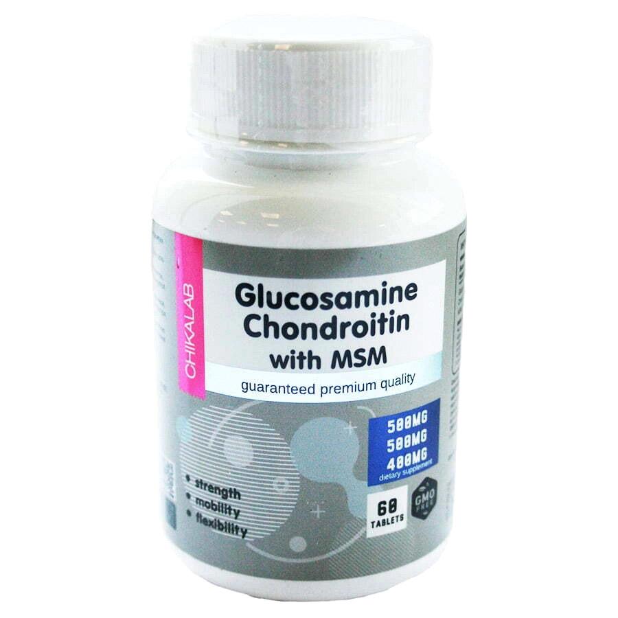 Биологически активная добавка ChikaLab Глюкозамин Хондроитин МСМ 60 таблеток 121 г недорого