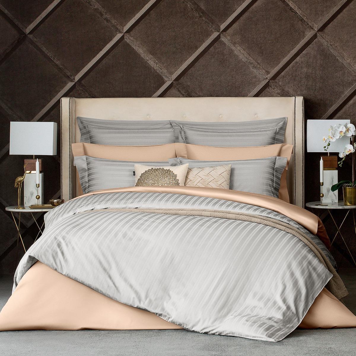 Комплект постельного белья Togas Барнетт Двуспальный евро светло-серый