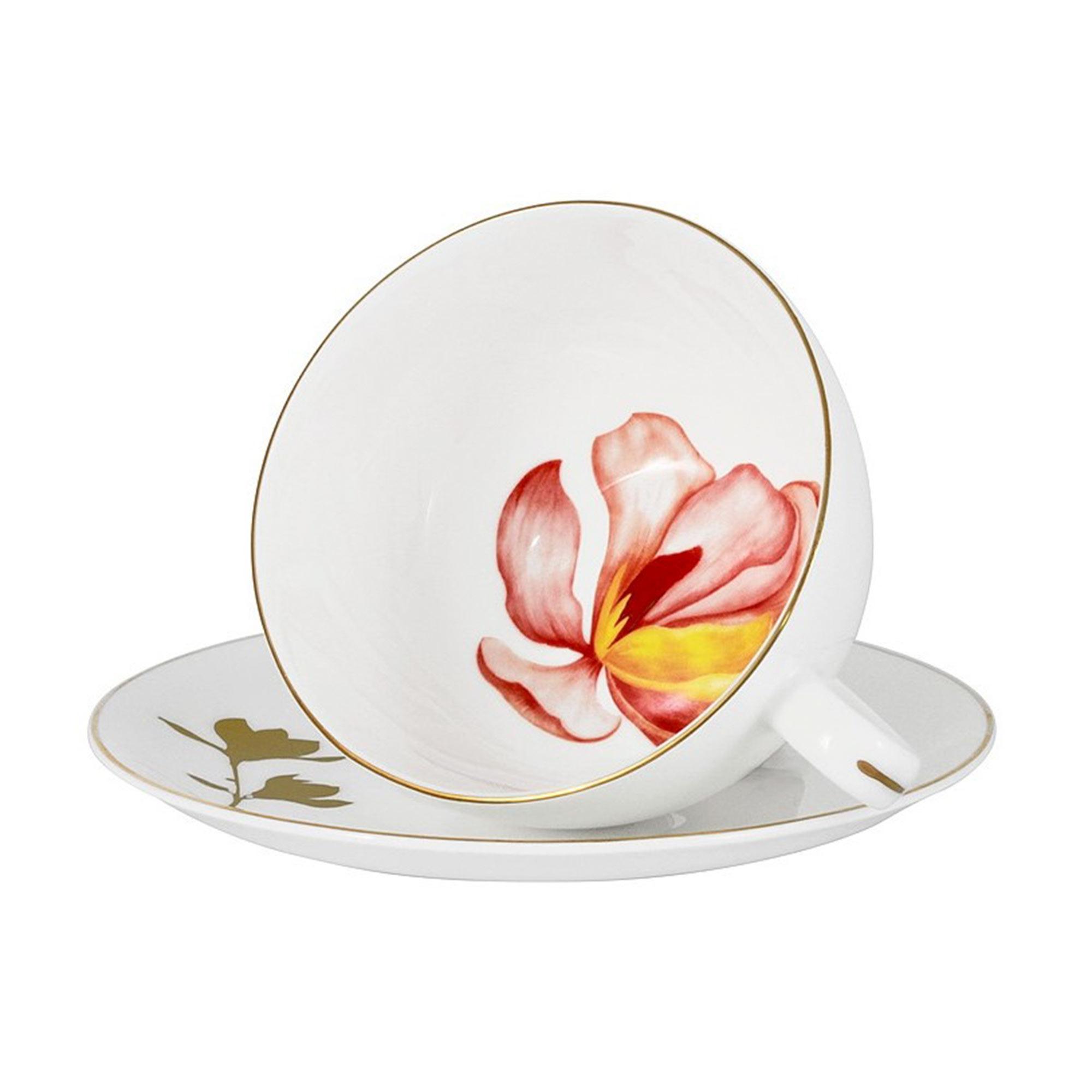 Фото - Чашка с блюдцем Anna Lafarg Emily Magnolia 250 мл салатник anna lafarg emily magnolia 14 см 750 мл