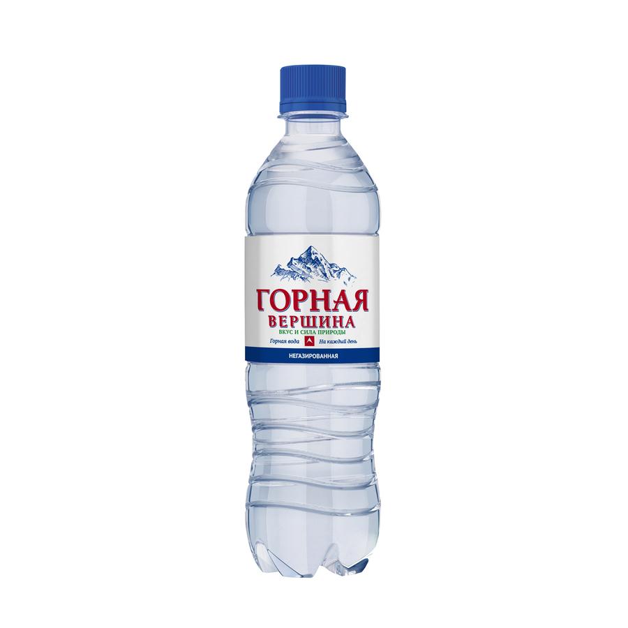 Вода питьевая Горная вершина негазированная 0,5 л вода питьевая горная вершина негазированная 1 5 л