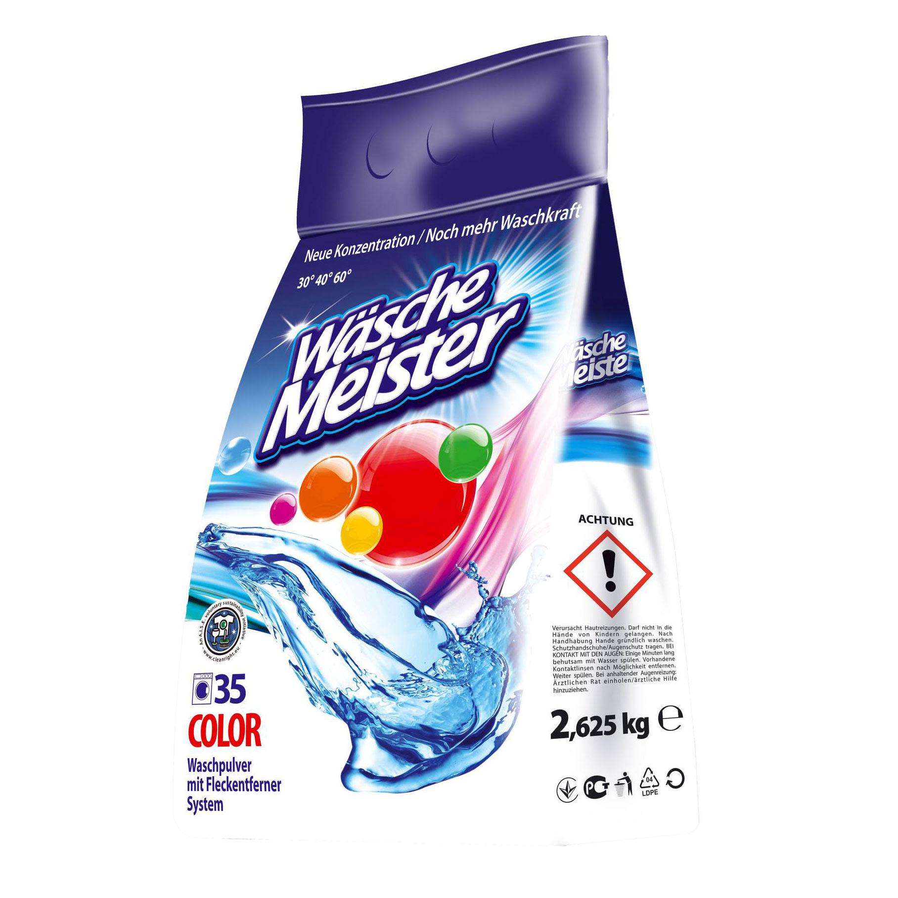 Стиральный порошок Der Waschkonig Color для цветного 2,65 кг недорого