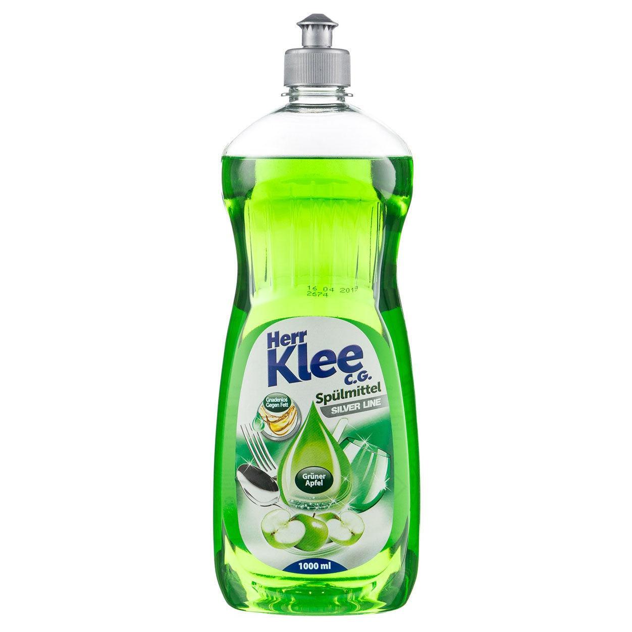 Средство для мытья посуды Herr Klee Зеленое Яблоко 1 л средство для мытья посуды herr klee лимон и ромашка 1 л
