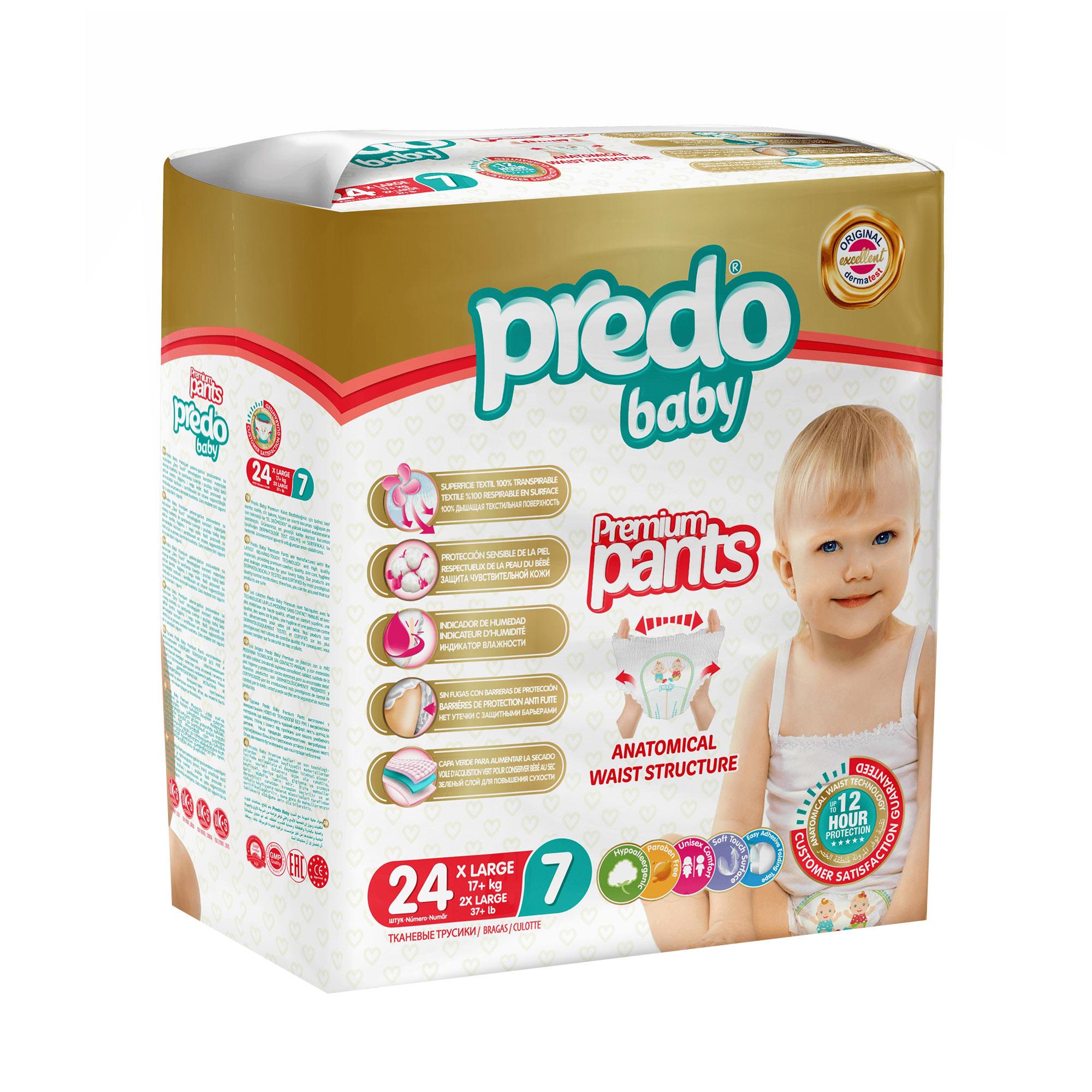Подгузники-трусики Predo Baby №7 17+ кг 24 шт