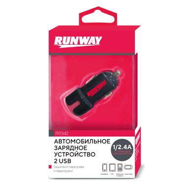 Устройство авто зарядное, 2 USB Runway RR342