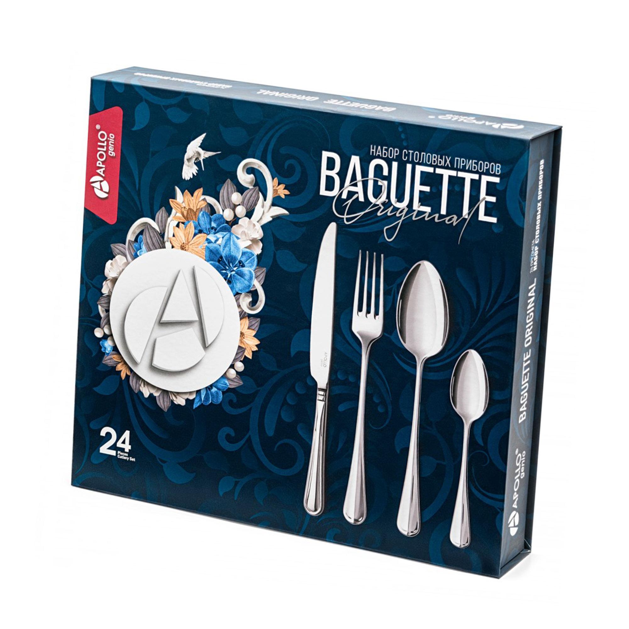 Набор столовых приборов Apollo Baguette Original 24 предмета