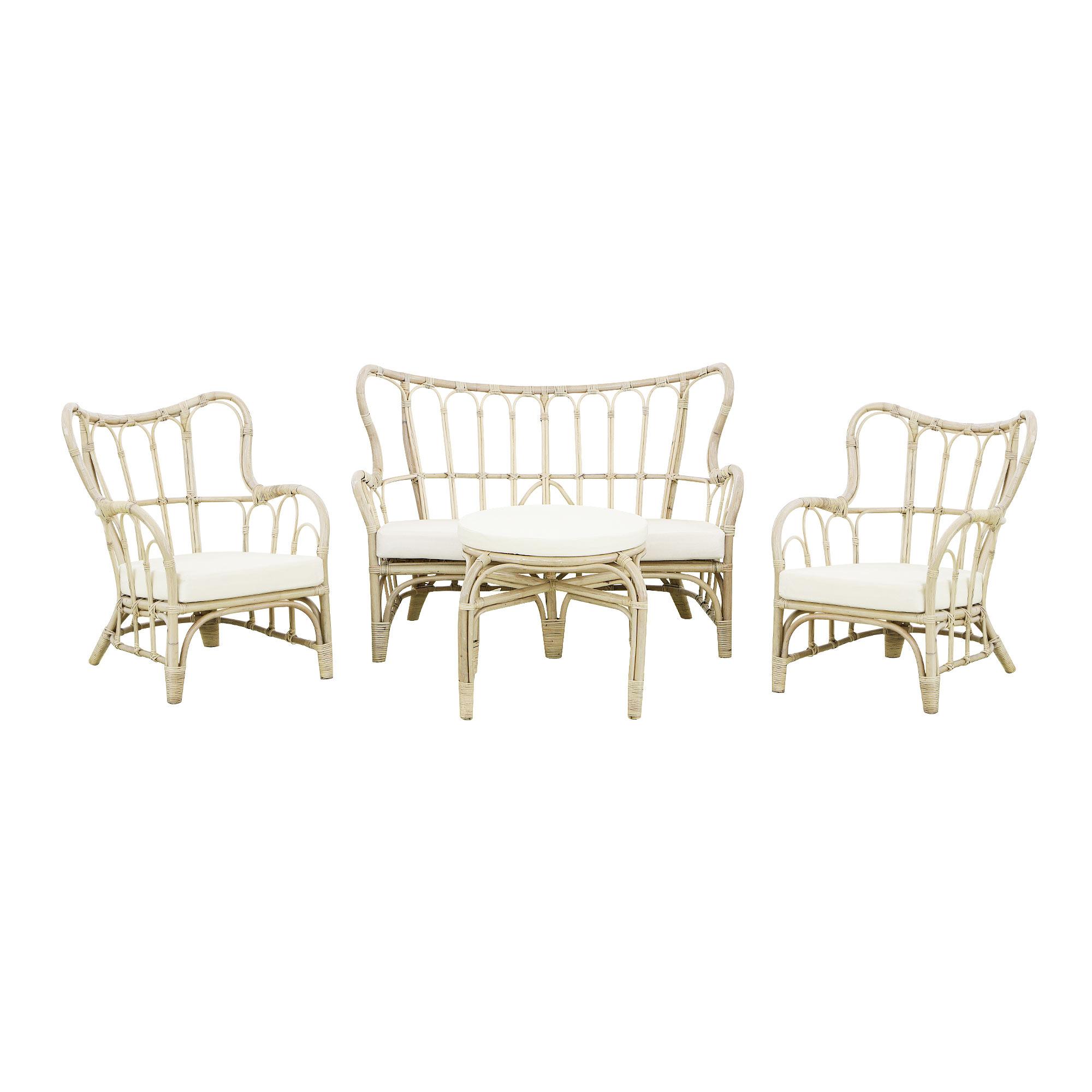 Фото - Комплект садовой мебели Rattan grand wash white 4 предмета комплект садовой мебели бел мебельторг набор мебели сан ремо мини