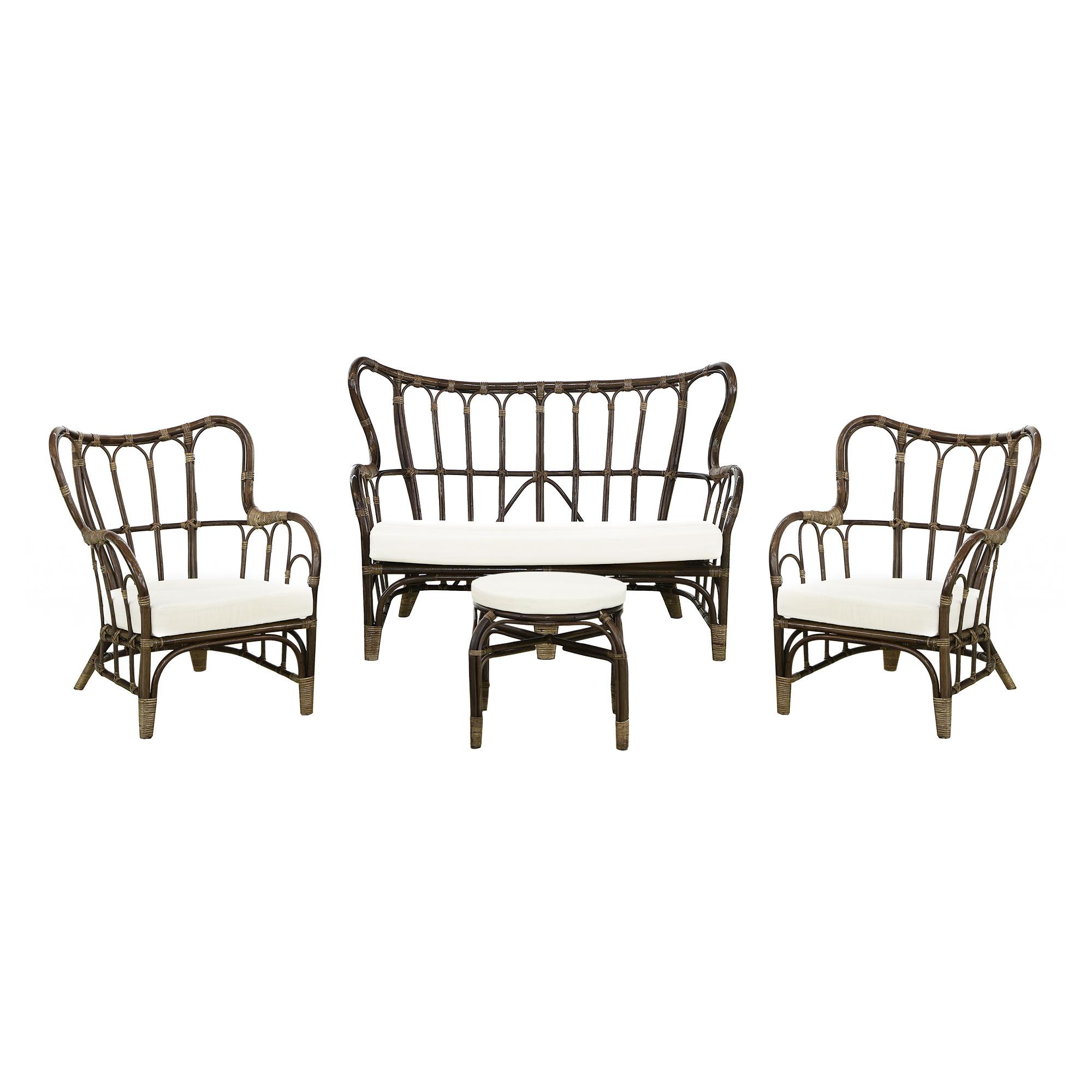 Фото - Комплект садовой мебели Rattan grand dark brown 4 предмета комплект садовой мебели бел мебельторг набор мебели сан ремо мини
