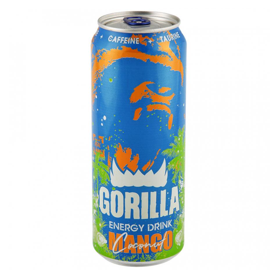 Энергетический напиток Gorilla Манго, кокос, 0,45 л