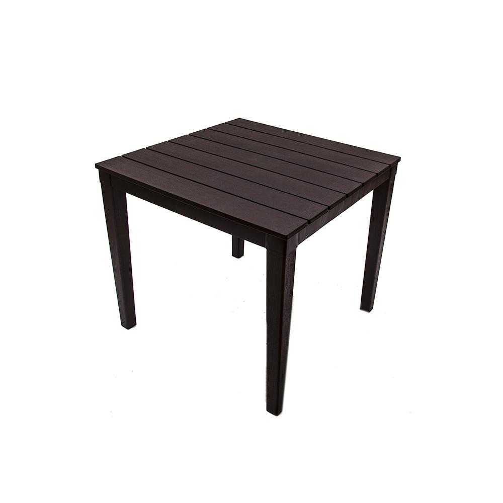 Стол квадратный Элластик-пласт Прованс 80х80см шоколадный