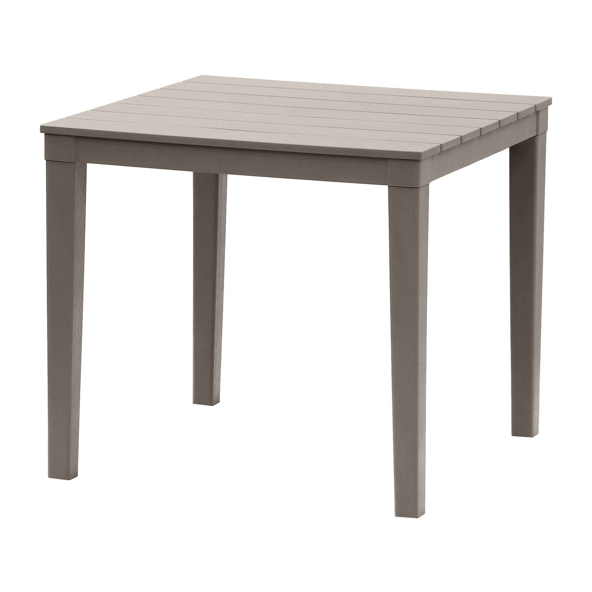 Стол квадратный Элластик пласт Прованс мокко 80x80 см