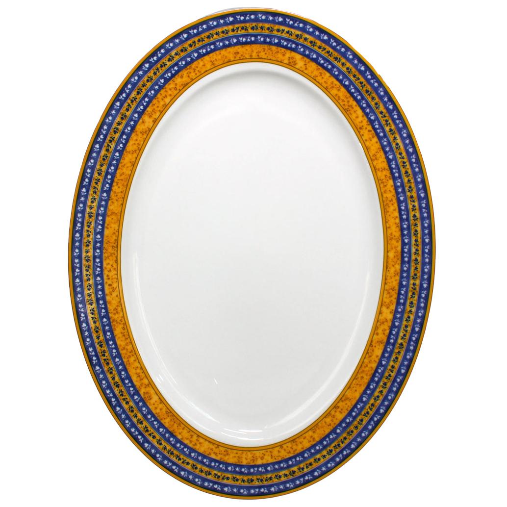 Фото - Блюдо овальное Thun Cairo Сине-желтые полоски 36 см блюдо овальное 36 см falkenporzellan блюдо овальное 36 см