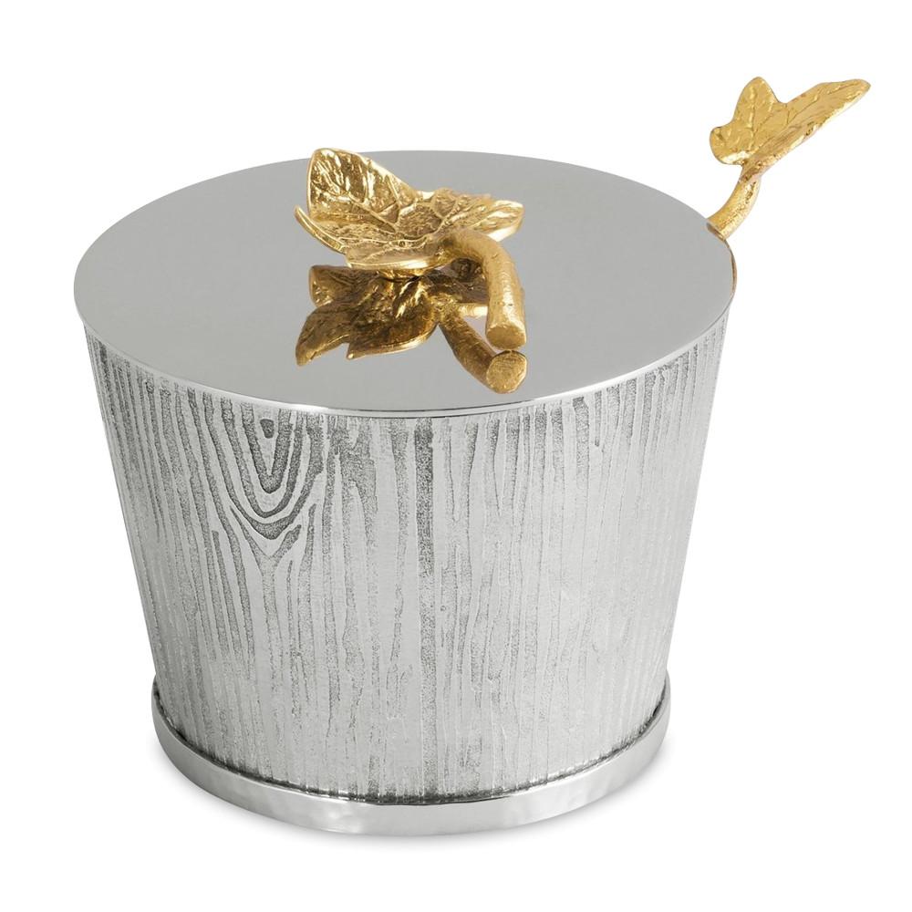 Чаша с крышкой и ложкой Michael Aram Ivy&Oak 8 см недорого
